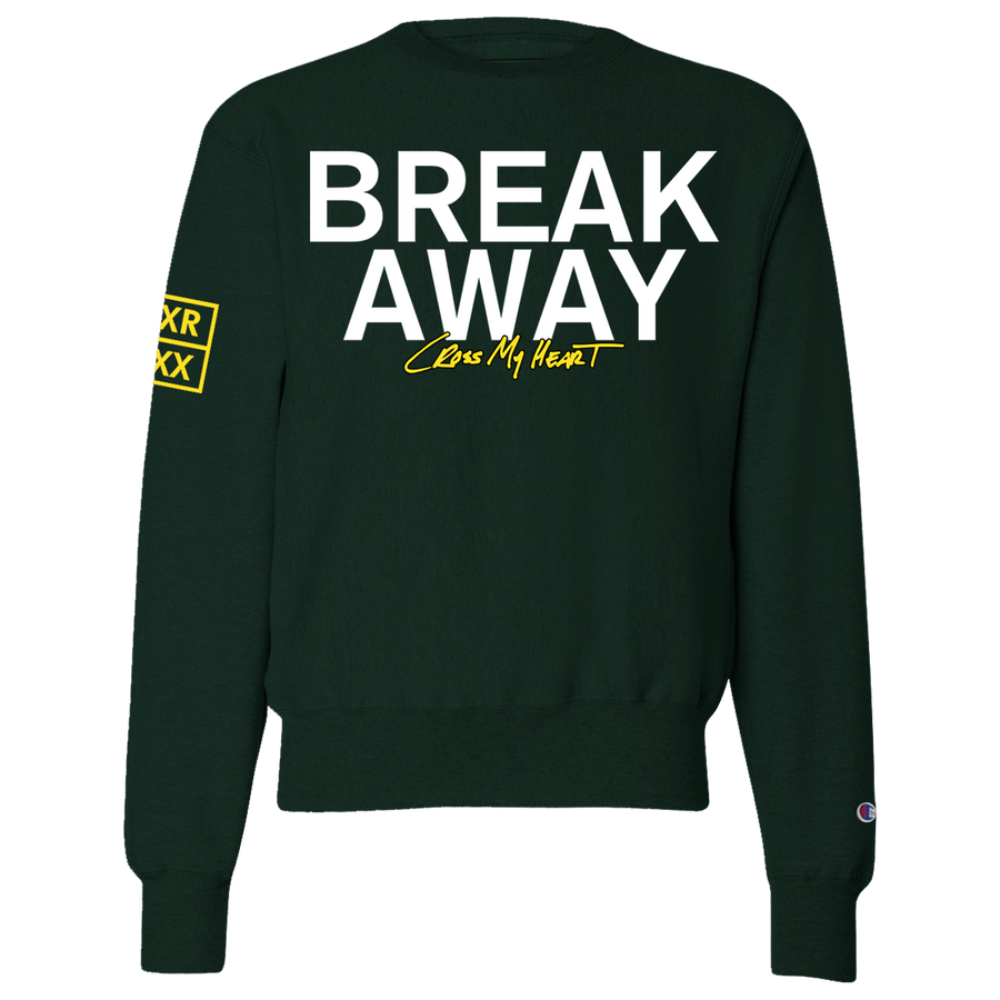 "Break Away ""Cross My Heart"" Green Crewneck Sweatshirt"