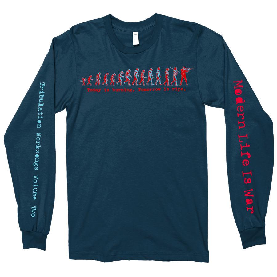 "Modern Life Is War ""Evolution Vol. 2"" Navy Blue Longsleeve"