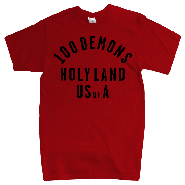 "100 Demons ""Holyland"" Red T-Shirt"