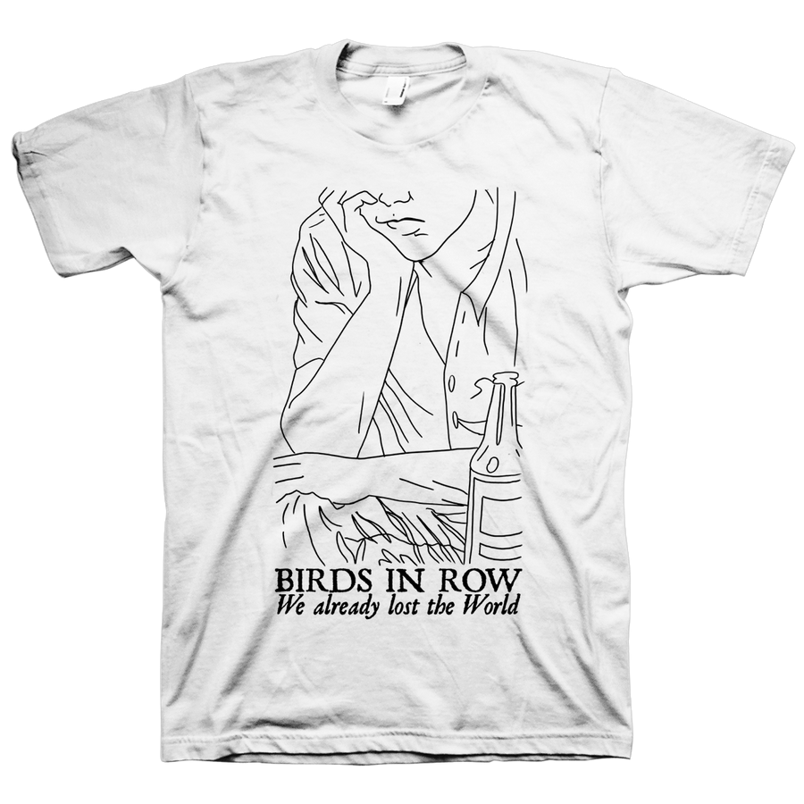 "Birds In Row ""Drawing"" White T-Shirt"