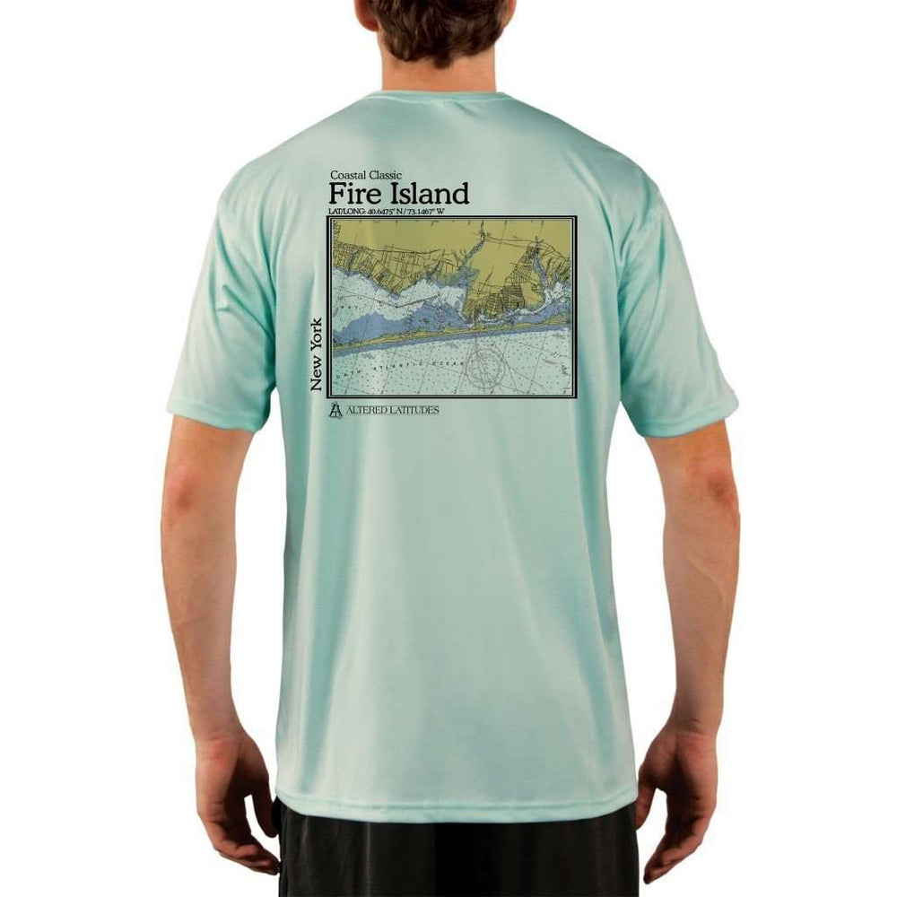 Coastal Classics Fire Island Mens Upf 5+ Uv/sun Protection Performance T-Shirt Seagrass / X-Small Shirt