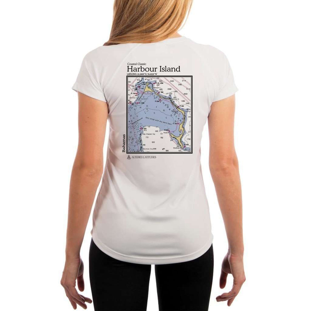 Coastal Classics Harbour Island Womens Upf 5+ Uv/sun Protection Performance T-Shirt White / X-Small Shirt