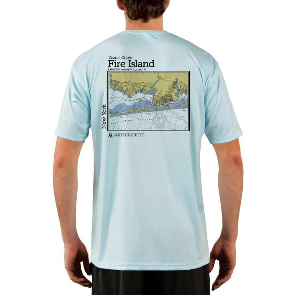 Coastal Classics Fire Island Mens Upf 5+ Uv/sun Protection Performance T-Shirt Arctic Blue / X-Small Shirt