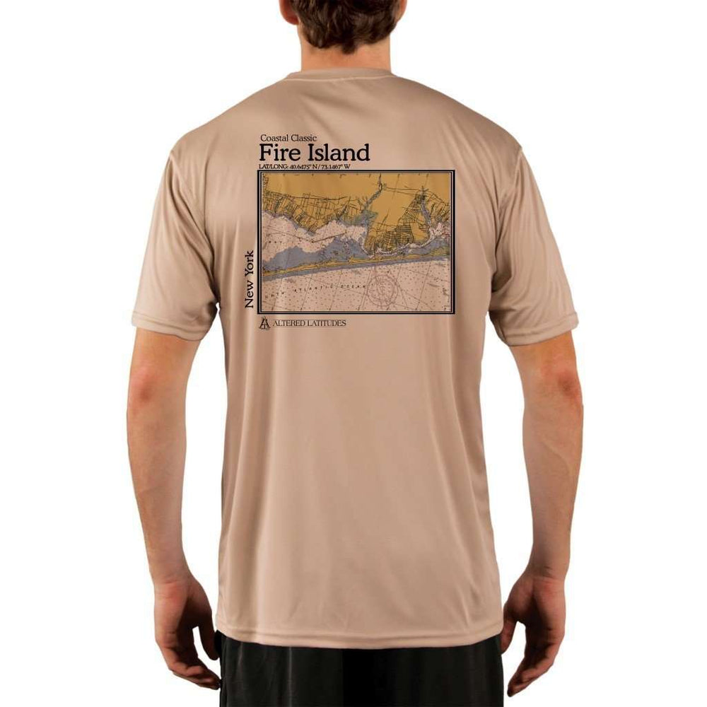 Coastal Classics Fire Island Mens Upf 5+ Uv/sun Protection Performance T-Shirt Tan / X-Small Shirt
