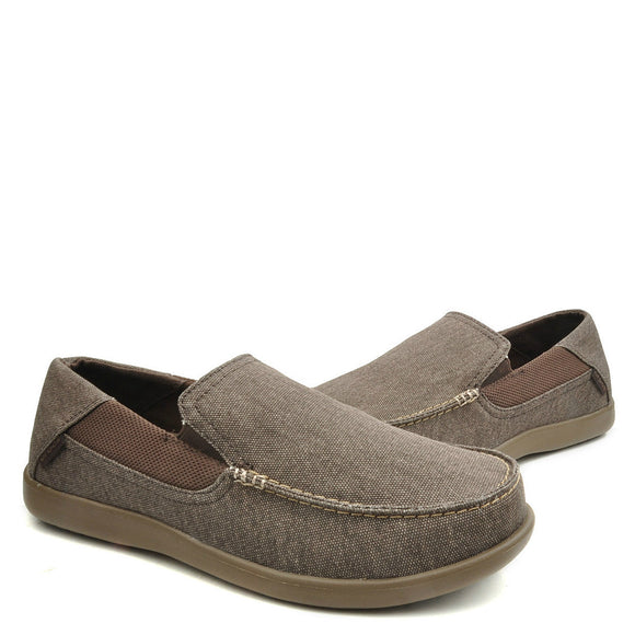 Crocs Men's Santa Cruz 2 Luxe Loafer - Espresso/Walnut 202056-23B