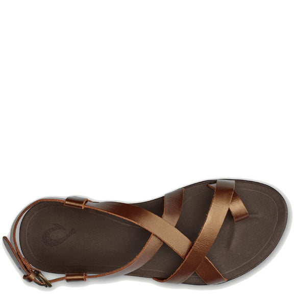 Olukai Women's Upena Leather Buckle Sandal - Bronze/Bronze 20288-8181