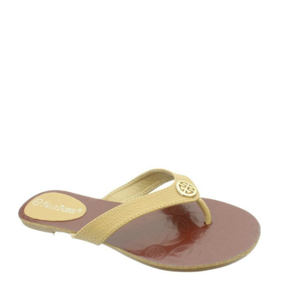 Pierre Dumas Women's Flora-1 Thong Sandal - New Tan 21175-120