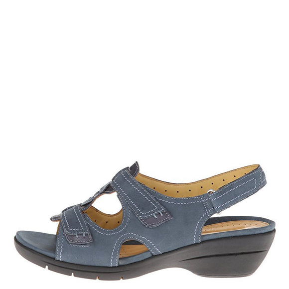 Clarks Women's Un Orlanda Leather Sandal - Navy 68535 - ShoeShackOnline