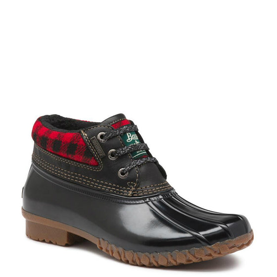 Bass Women's Dorothy Duck Bootie - Red/Black Plaid 71-22353 - ShoeShackOnline