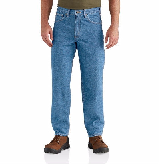 Carhartt Men's Relaxed-Fit Tapered-Leg Jean - Stonewash B17 - ShoeShackOnline