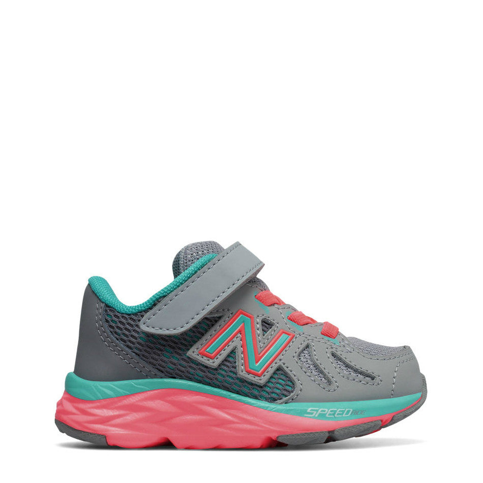 New Balance Infant Girl's Hook & Loop 790v6 - Grey with Teal & Guava KV790GNI