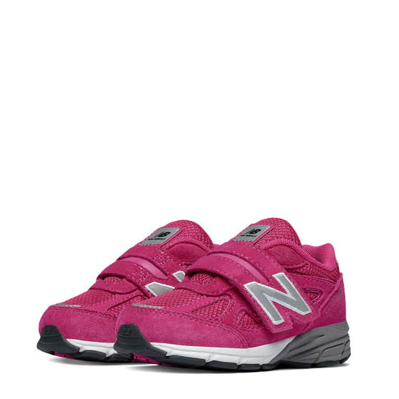 New Balance Infant Girl's Hook & Loop 990v4 - Pink KV990PEI