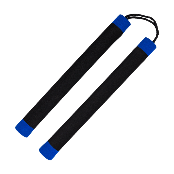 Blue Stripe Foam Nunchaku