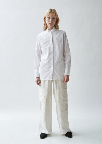 Evening Embroidered Plastron Shirt