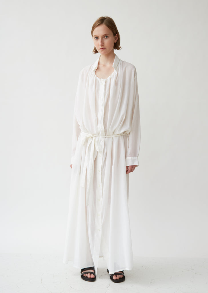 Cotton & Cashmere Maxi Shirt Dress