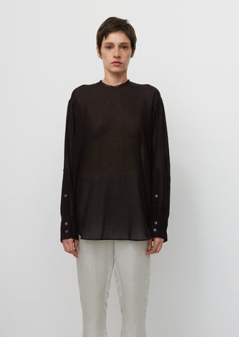 Cotton & Cashmere Crewneck Top
