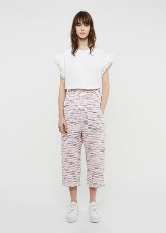 Light Tweed Cotton Pant
