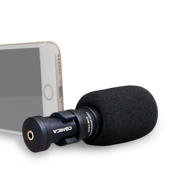 Mini Cardioid Directional Condenser Shotgun Super Anti-interference Video Microphone for Smartphones