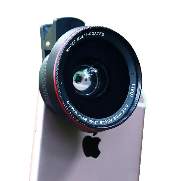 2 in 1 58mm 0.67X Wide Angle Lens with 10x Macro Lens for iPhone Sumsang Smartphone Mobile Phone