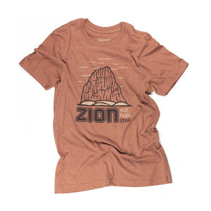 Zion National Park Motif t-shirt in clay