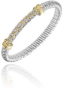 Scattered Diamond and Gold Bracelet