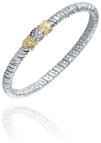 Pave' Diamond Closed Bracelet