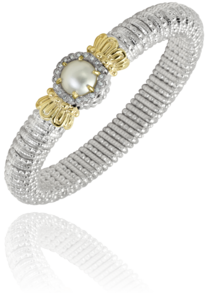 Mobe' Pearl and Diamond Bracelet
