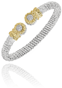 Pave' Diamond Tipped Bracelet