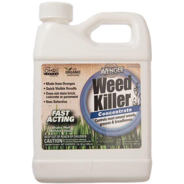 Avenger Organic Weed Control Killer Concentrate 1 Quart - 32 Ounce - Rocky Mountain Bio-Ag