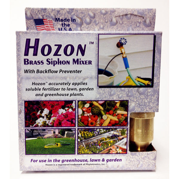 Hozon Brass Siphon Mixer With Backflow Preventer - Rocky Mountain Bio-Ag