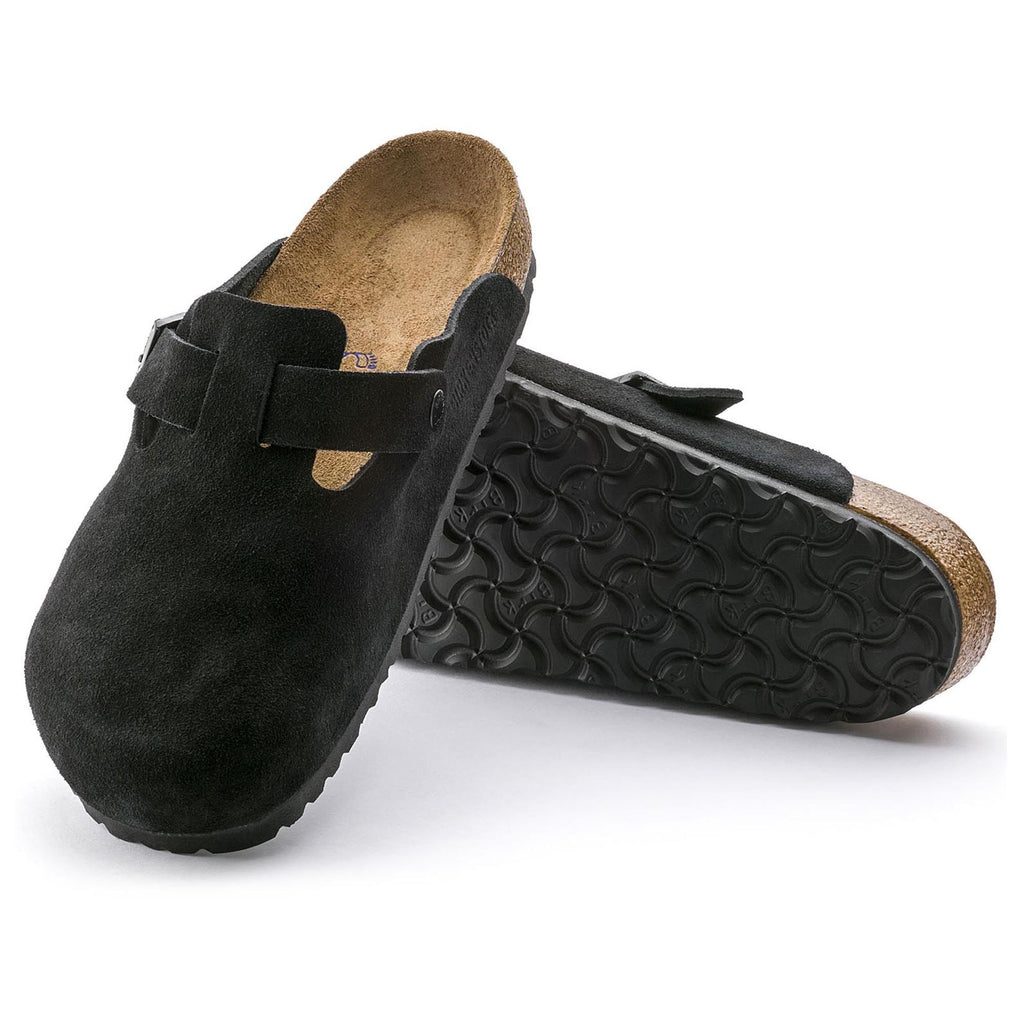Boston Soft Footbed : Black Suede