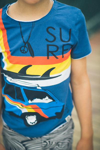 Vintage Surf Wagon Romper by: Mini Shatsu
