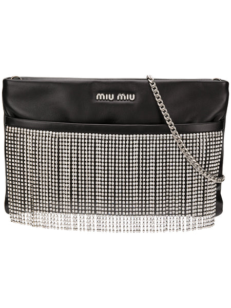 Crystal Embellished Cross-Body Bag