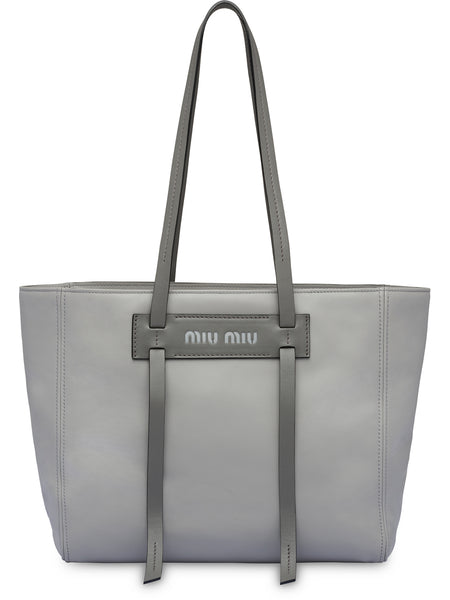 Grace Lux Grey Leather Tote