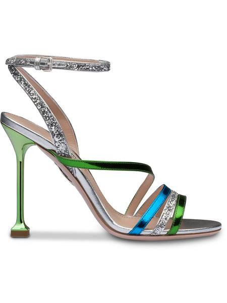 Multicolour Glitter Sandals
