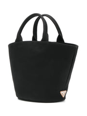 Vintage Logo Black Tote Bag