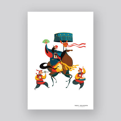 """Annam Mandarin"" Artprint by KAA illustration"