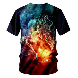 Herogameszone 3-Dragons 3D T-Shirt Short Sleeve 3D T-Shirt Short Sleeve