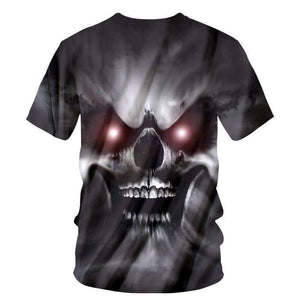 Herogameszone A Wicked Skull 3D T-Shirt Short Sleeve 3D T-Shirt Short Sleeve