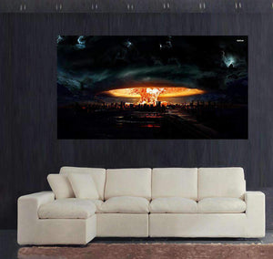 Herogameszone Atomic Bomb Canvas Printed Wall Art 50x70cm Canvas Printed Wall Art