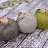 Milburn 4ply™ British Bluefaced Leicester/Silk in Fern; 500g pack