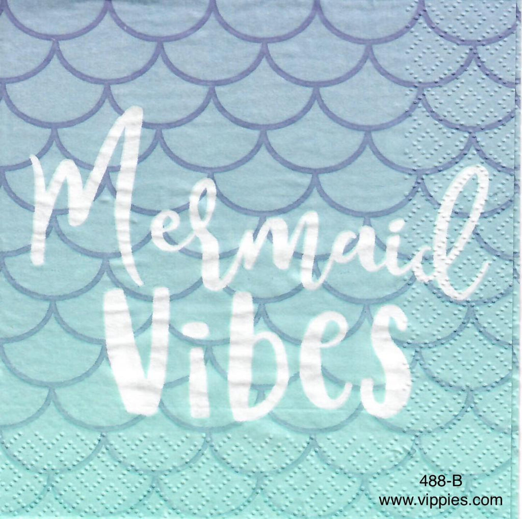 NS-488 Mermaid Vibes Napkin for Decoupage