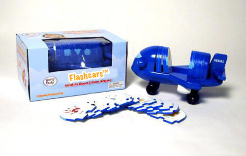 Aerial the Shapes & Colors Airplane - Flashcard Friends Wooden Toy