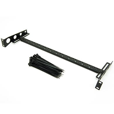 1U Adjustable Cable Support Rack Bar - Inc. 100 Pack Cable Ties R1320/1UK