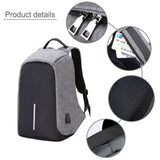 Anti-theft Backpack with USB Charging Port Slim Backpack for 15.6 Inch Laptop