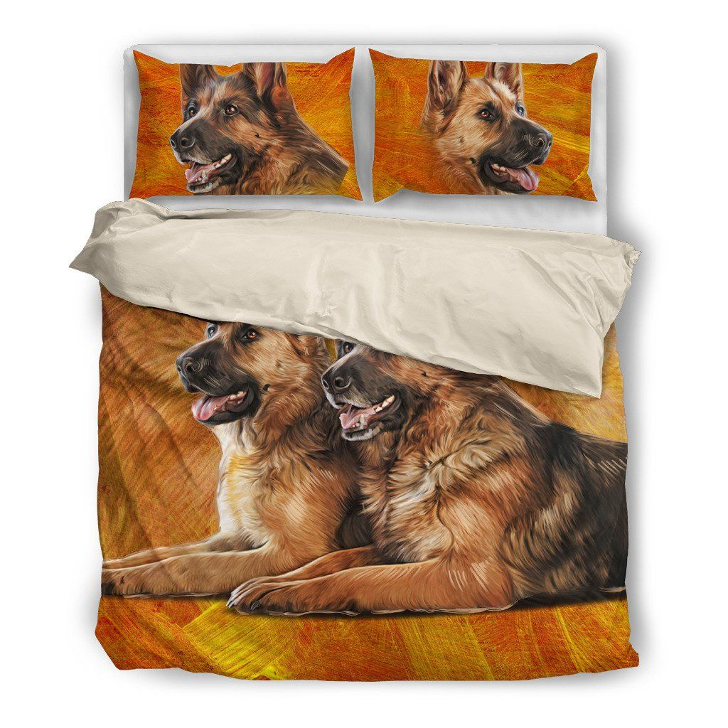 Onlinepresales German Shepherd 5 Design Bedding Set Hypoallergenic Duvet Cover  Microfiber Twin/Queen/ King Size Bed Sheet with 2 Pillow Covers
