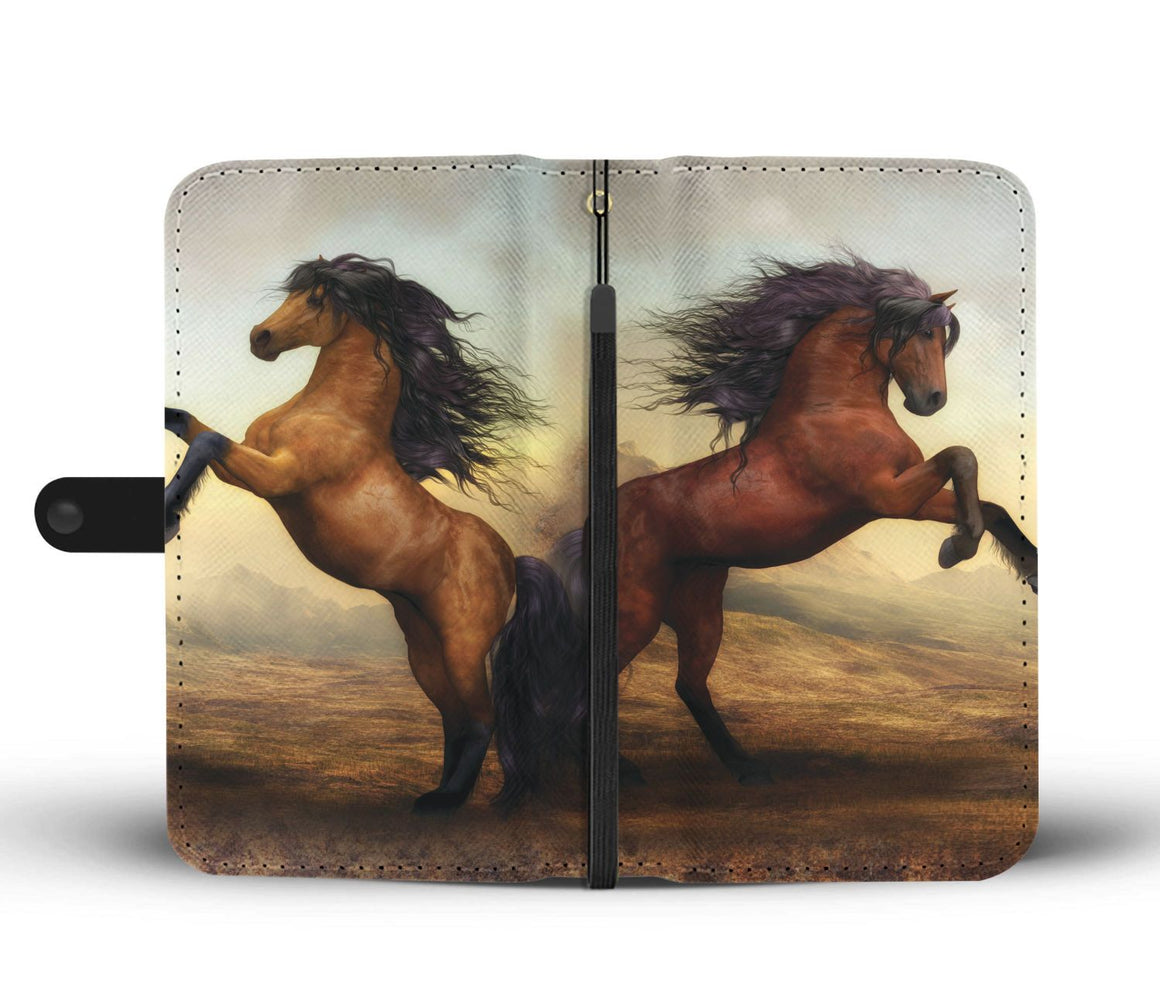 Hand Crafted Horse Beauty Wallet Case