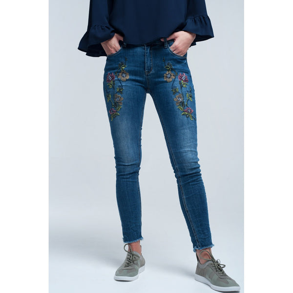 IVY LEAGUE FLORAL SKINNY JEANS - Gimmerton