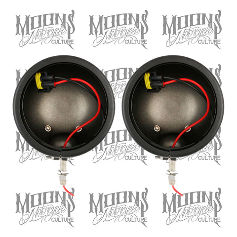MOONSMC® 4.5 AUX Light Housing Buckets, Lighting,Parts, MOONS, MOONSMC // Moons Motorcycle Culture