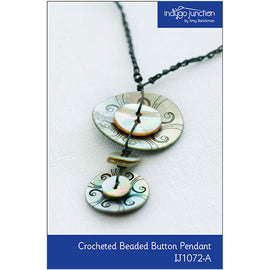 Crocheted Beaded Button Necklace Digital PDF Pattern